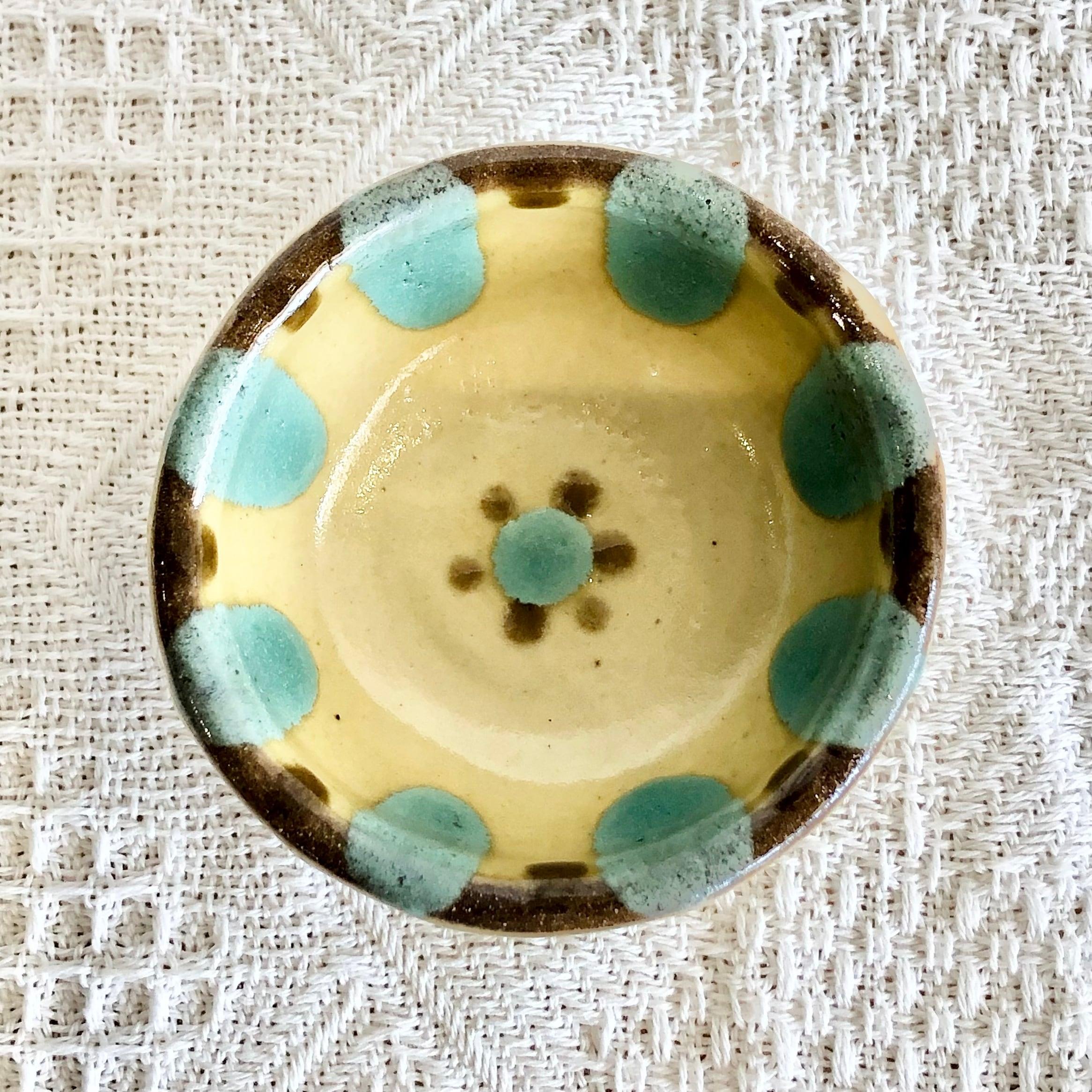 『ノモ陶器製作所』饅頭鉢 緑チチチャン