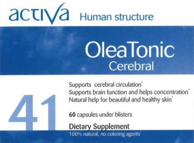 Activa Olea Tonic Cerebral (オレア トニック セレブラル)脳機能や皮膚の老化予防に
