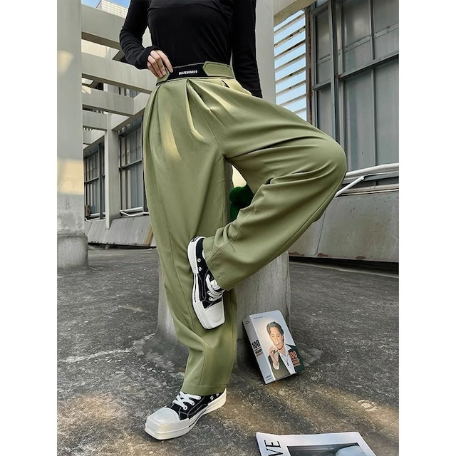 waist design loose pants