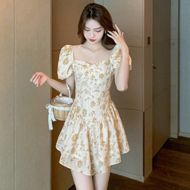 新作 花柄 超可愛い ミニドレス ワンピース キャバドレス 高品質 MY2013