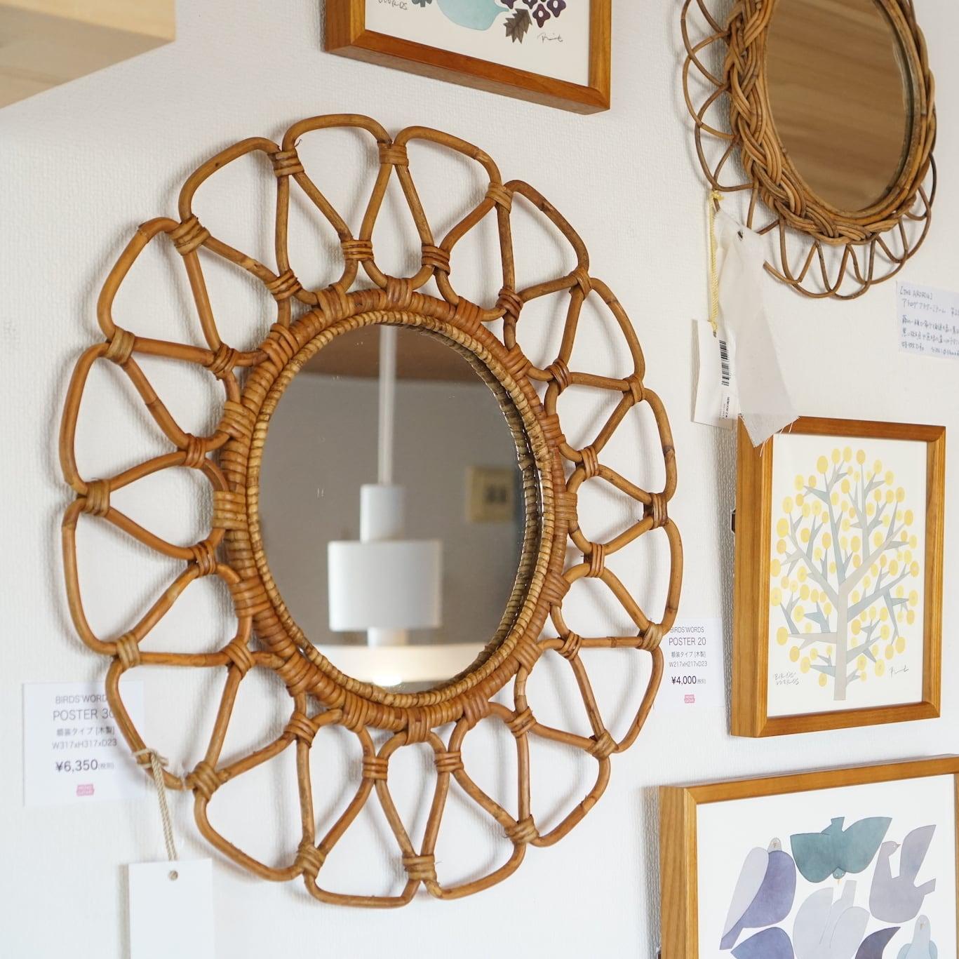【30%OFF】玄関にぴったりなヴィンテージデザインのミラー。【JUGLAS(ユグラ)】フラワーミラー
