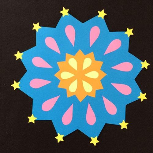 大きい花火(A)の壁面装飾