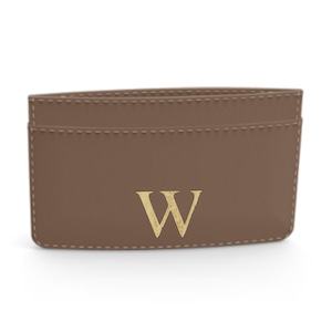 Premium Smooth Leather Card Case (Chocolate)