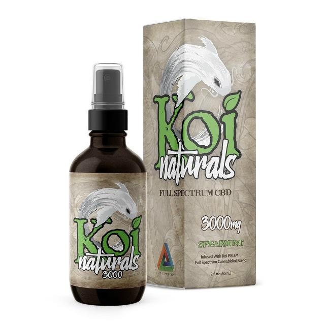 『舌下で摂取』Koi Naturals CBDオイル Spearmint味 60ml / 3000mgCBD 【Koi CBD】