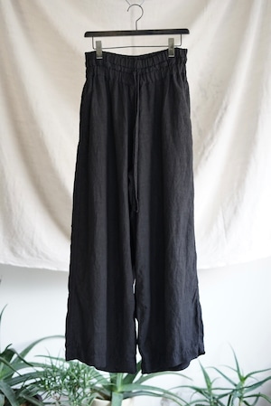 <SOLD OUT>Vincent Jalbert - Full Vintage Linen Large Elasticed Pants (black)