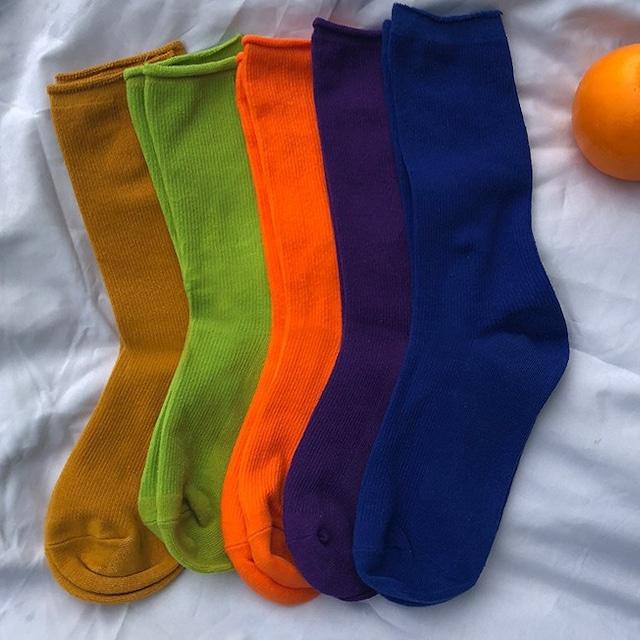 【小物】無地シンプル靴下43204046