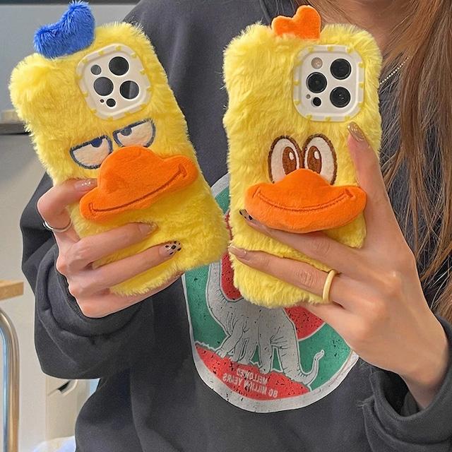 Cute duck plush iphone case