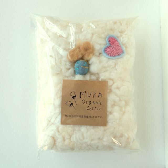 無農薬で栽培した綿花