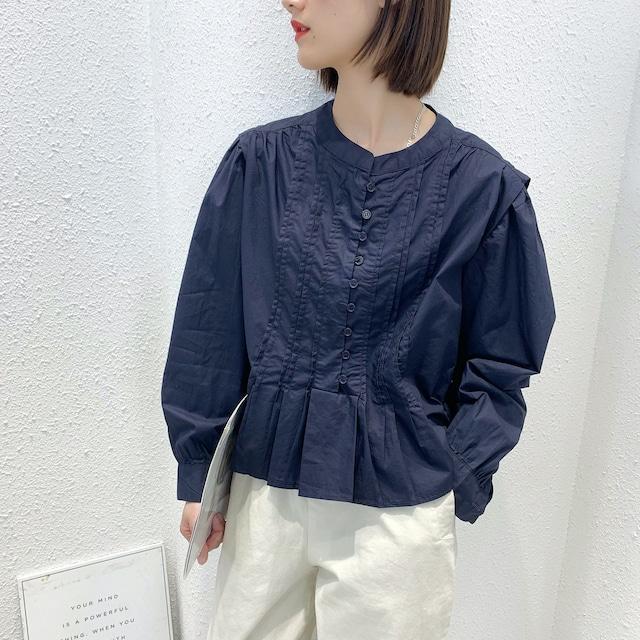 デザインプリーツシャツ 3colors