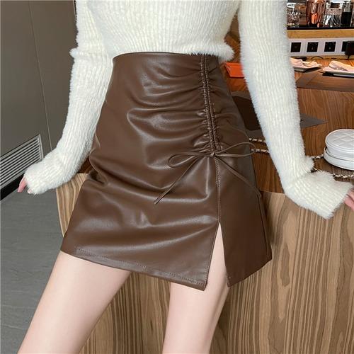 3色/ドロストレザースカート ・19388