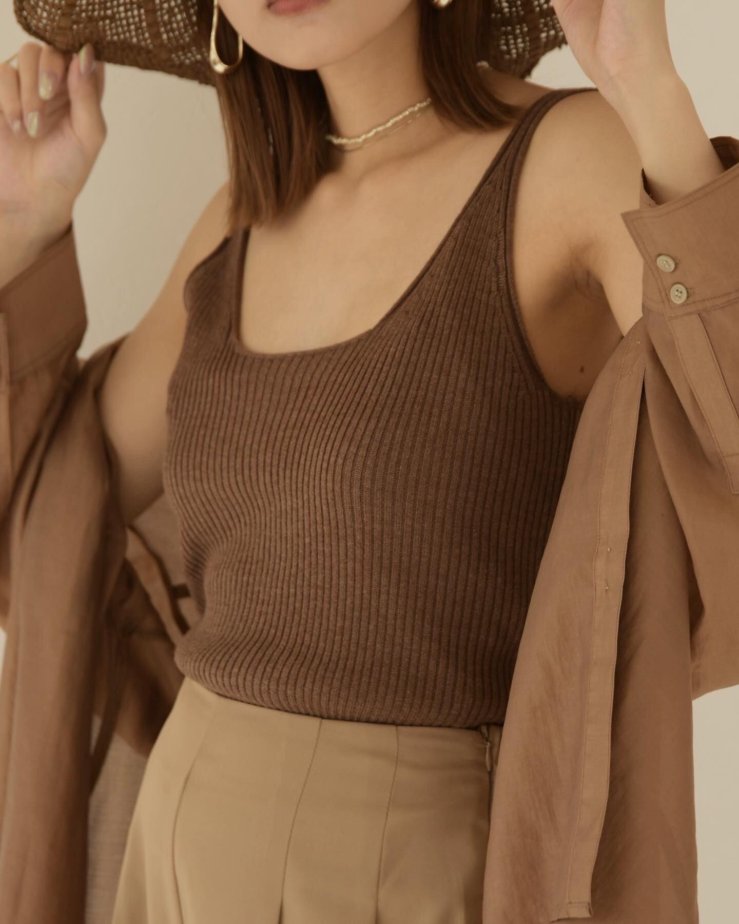 rib knit tank top