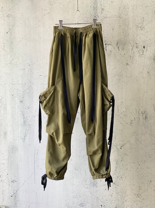 original techno pants(khaki)