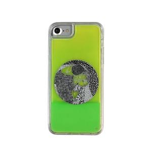 ARTiFY iPhone SE(第2世代)/6/6s/7/8 ネオンサンドケース クリムト キス 円形 グリーン/イエロー AJ00403