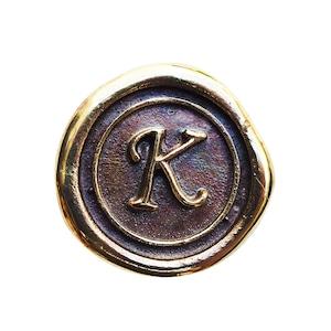 シーリングイニシャル S 〈K〉 ブラス / コンチョボタン