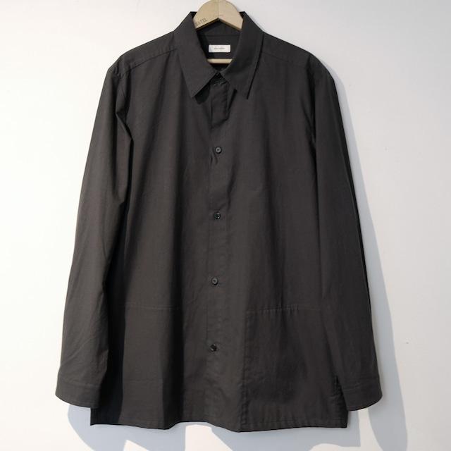 【the Sale!  40%off 】THE HINOKI ザ・ヒノキ  コットンパラシュート クロス レギュラーカラーシャツ BLACK