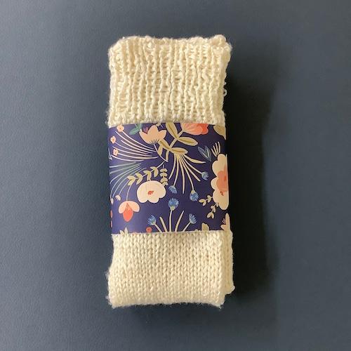 シルク 手編み靴下