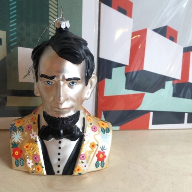 """Ornaments """"HIPSTER ABRAHAM LINCOLN"""" オーナメント"""