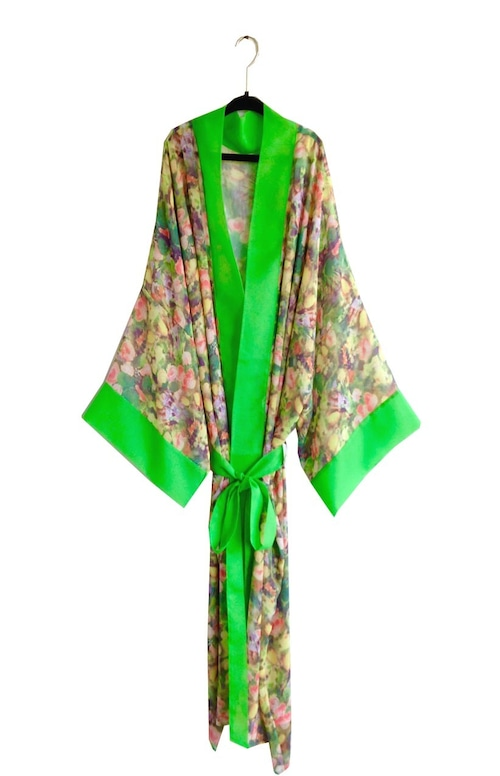 Long Robe Floral Green ロングローブフローラルグリーン