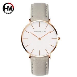 ジャパンクォーツシンプルな女性のファッション時計ホワイトレザーストラップレディース腕時計ブランド防水腕時計36mmCB36-FQ