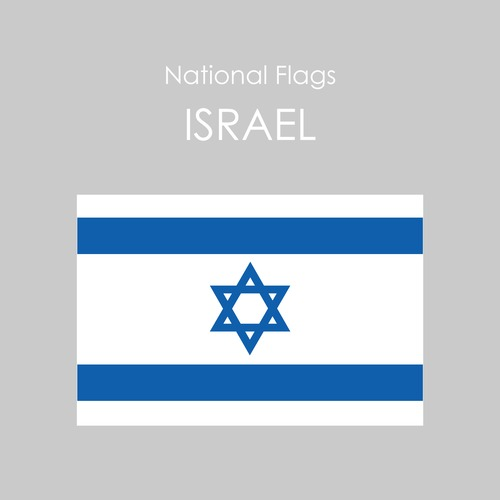 国旗ステッカー イスラエル