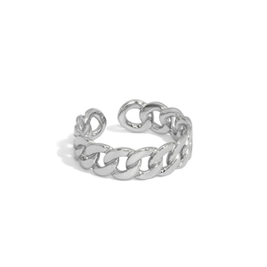 s925 Miami Chain Link Ring 【SILVER】