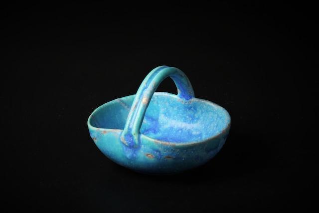 青釉手付豆鉢 信楽焼