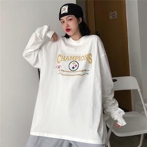 【トップス】韓国系ファッションbfシンプルラウンドネックパーカー42908301