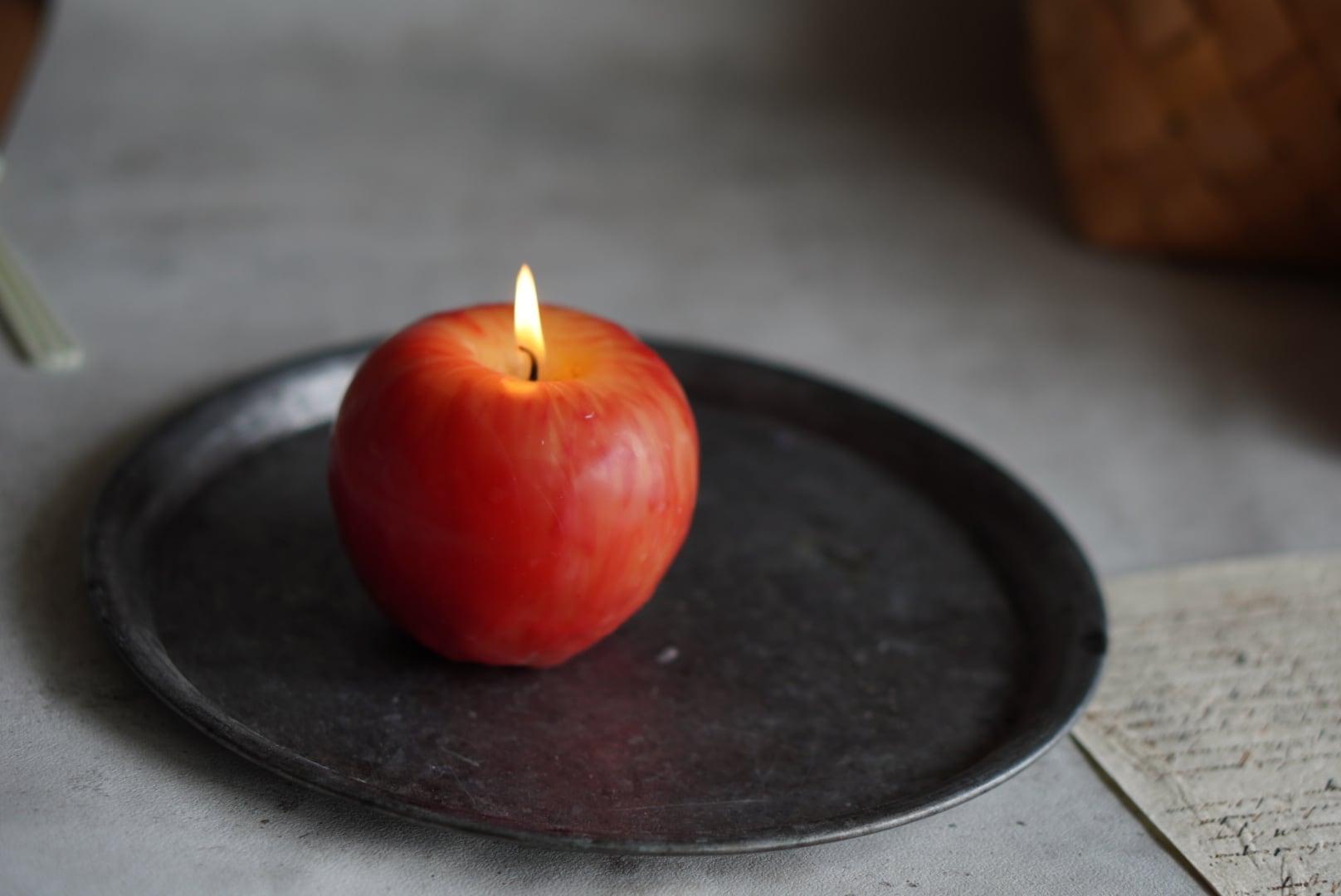 リンゴのキャンドル