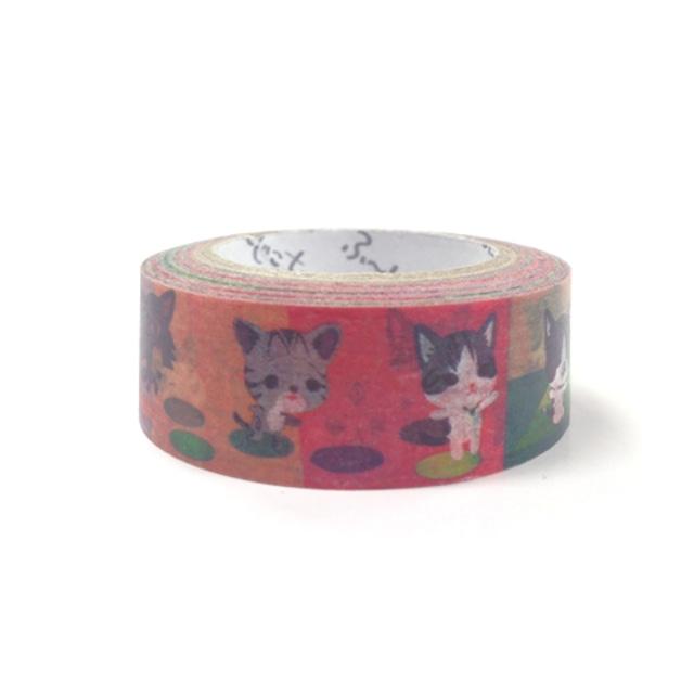 ふーじこちゃん マスキングテープ【猫遊び