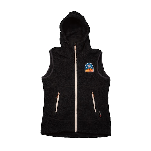 New!! UN3510 Boa fleece hoody vest / Charcoalblack
