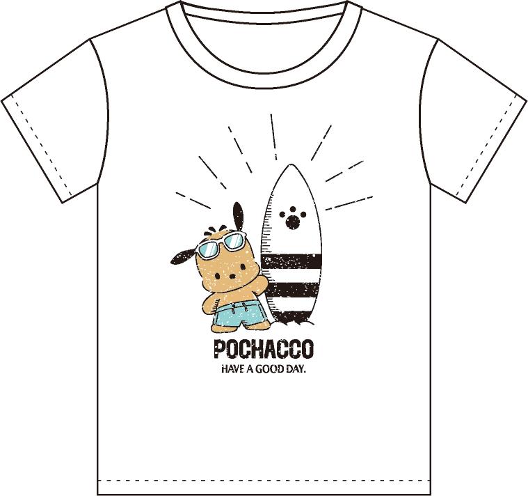 ポチャッコ cafe 限定コラボティーシャツ(サングラスタイプ)