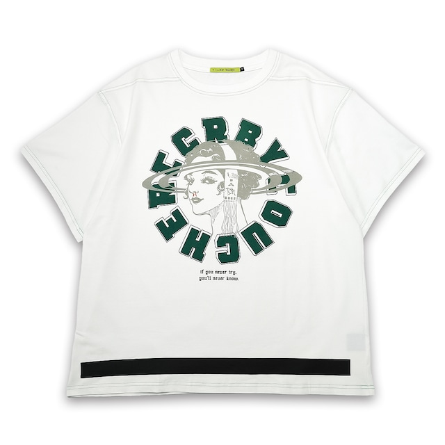T.C.R TRYING S/S TEE - WHITE