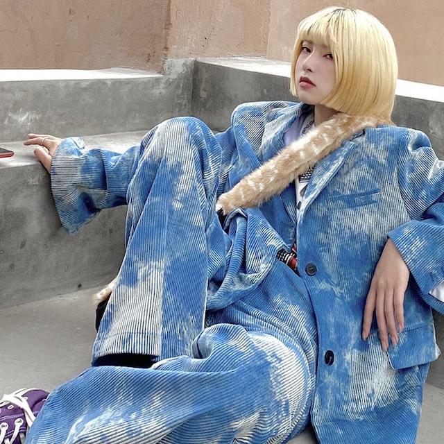 【セット】「単品注文」タイダイファッションスーツ+タイダイカジュアルパンツ2点セット52636434