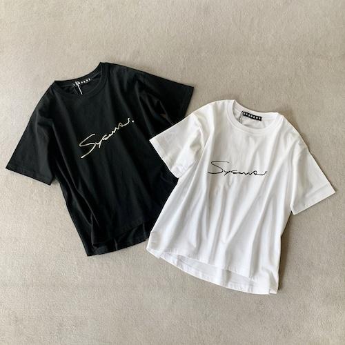 SYSORUS (シソラス) フロントロゴプリントTシャツ[SCRIPT] R129201
