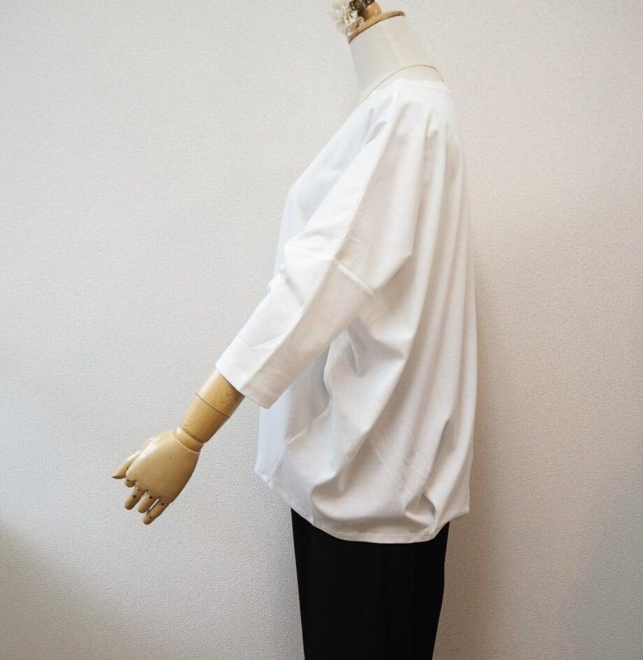crewneck simple tops  <white>