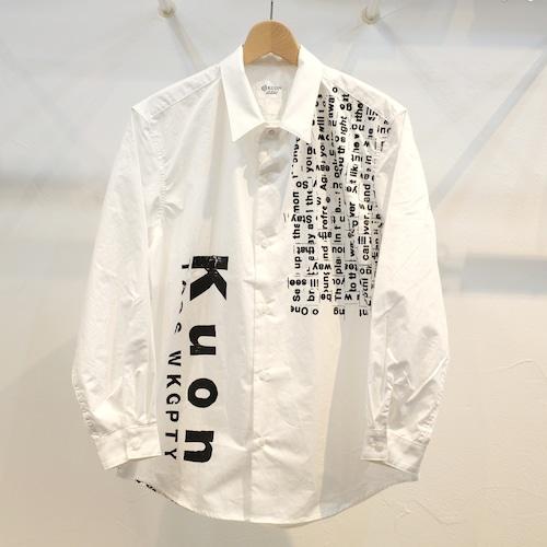 KUON×TAGS WKGPTY タイプライターシャツ WOVEN SONG