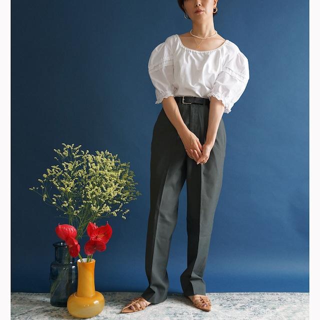 【送料無料】 Vintage Dirndl puffy sleeves Austrian blouse