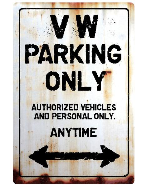 【送料無料】Volkswagen Parking Onlyサインボード パーキングオンリー ヴィンテージ風 サインプレート ワーゲン フォルクスワーゲン  ガレージサイン アメリカ雑貨 アメリカン雑貨 壁飾り ウォールデコレーション 壁面装飾 おしゃれ インテリア 雑貨