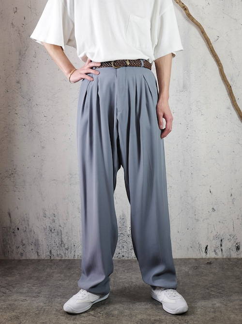 3tuck silky pants