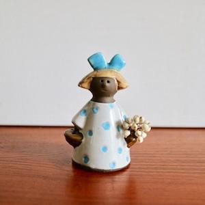 [SOLD OUT] Jie Gantofta ジィ・ガントフタ / Flower Girl フラワーガール 青いリボンの女の子
