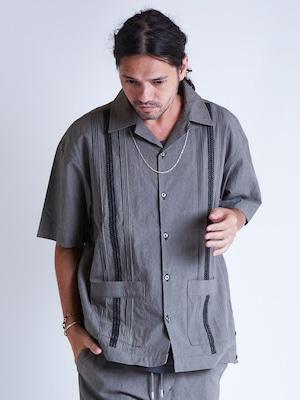EGO TRIPPING (エゴトリッピング) FADE CUBA SHIRTS フェイドキューバシャツ / SANDO 613817-32