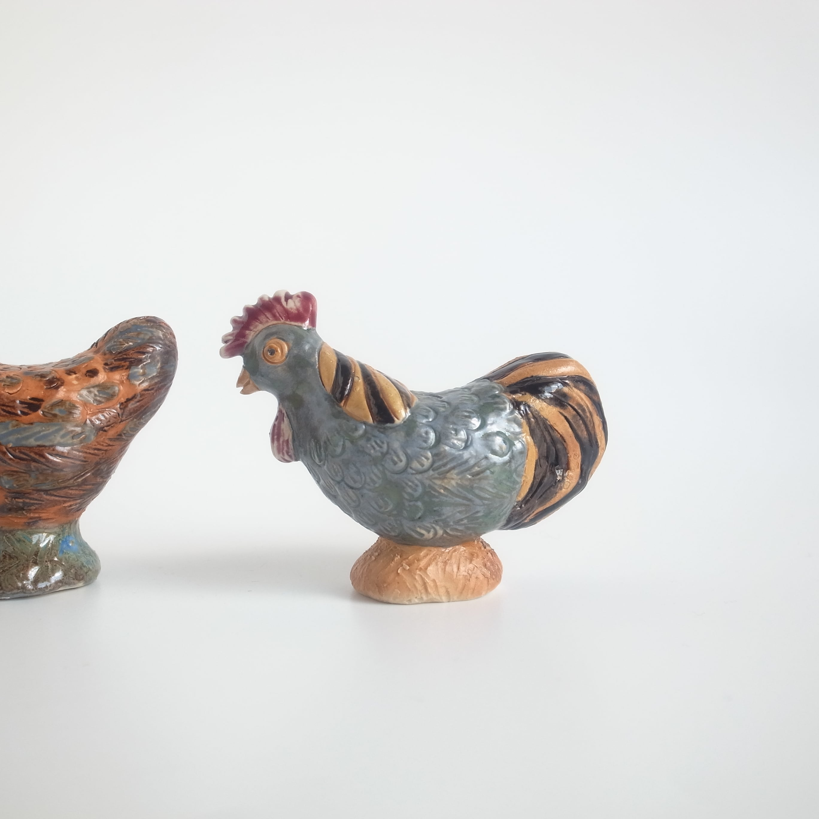 Rutebo / Blue rooster figurine