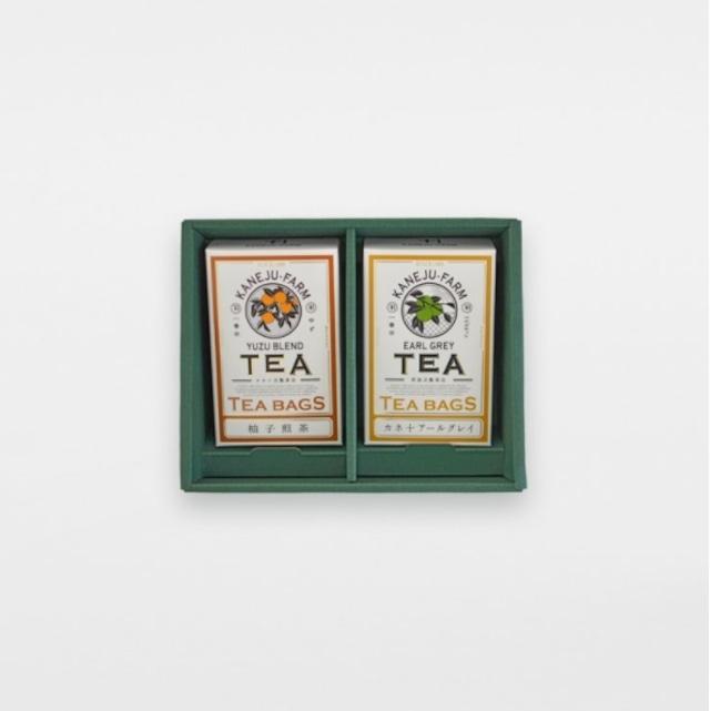 カネ十アールグレイ&柚子煎茶セット  Kanejyu tea farm Earl grey tea and Yuzu sencha SET