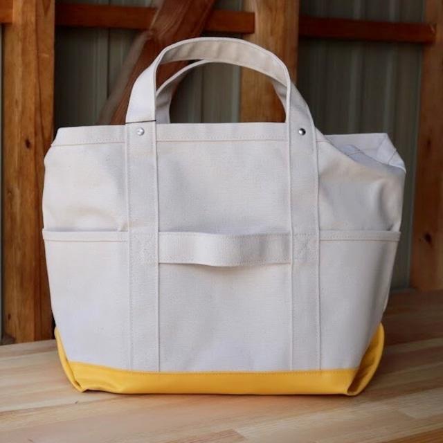 8号帆布TOOL BAG(off white×yellow )