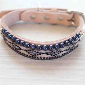 """WanDelen""Dog Necklace (diamond beige)"