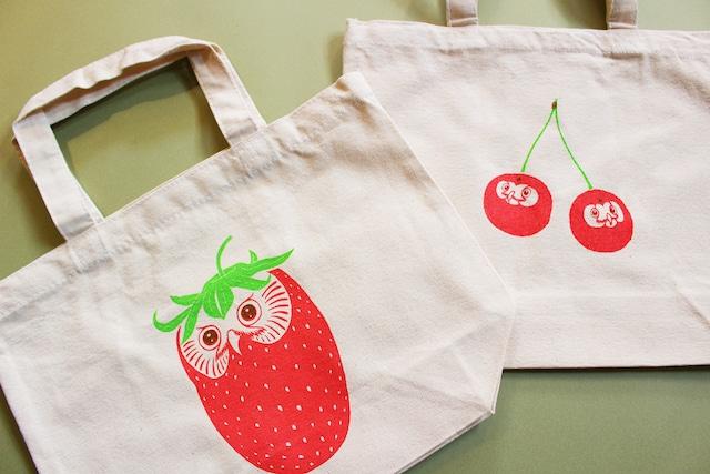 『owlberry』『さくらんぼんぼん』 トートバッグ