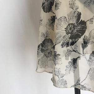 """❖""""Fiorina"""" Ballet Wrap Skirt -  Monochrome Flower [Sheer]( モノクローム・フラワー[シアー])"""