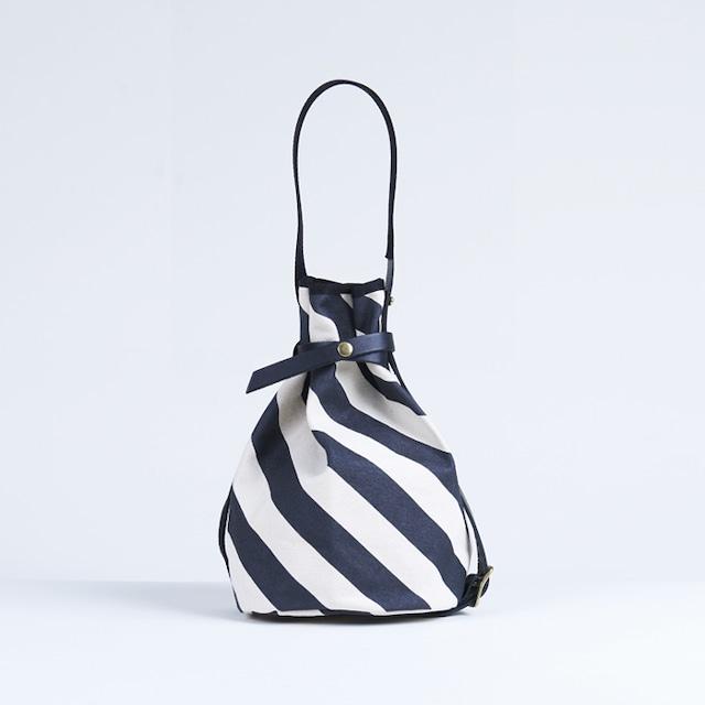 kingyo bag / black × stripe きんぎょバッグ / 墨 x 縞