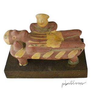 不安のポートレート / 医者と患者 医薬品メーカー陶器スタチュー