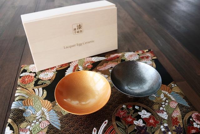『漆薄手磁器』 『Lacquered Egg Ceramic』 『平盃ペア』*陶胎漆器 平盃ペア セット 贈り物 日本酒 乾杯 記念 ギフト プレゼント お祝い 敬老の日